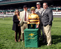 Successful Dan with Julien Leparoux up wins the 2013 Ben Ali for trainer Charlie LoPresti and owner Morton Fink during the 2013 Keeneland Spring MeetMajor Tonini presents