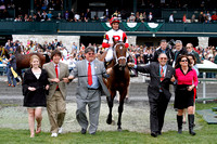 Dark Cove with Joel Rosario wins the 2013 Elkhorn, trainer Mike Maker, owners Ken and Sarah Ramsey, 2013 Keeneland Spring Meet
