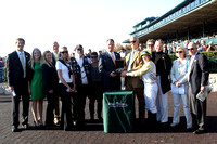 Upperline with James Graham up wins the 2012 Rood and Riddle Dowager for trainer Mike Stidham and owners Arthur Hancock III, John Adger, Jack Hodge and Michael Stidham, Oct 21, 2012. 2012 Keeneland Fa