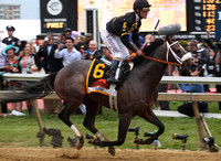 Oxbow wins the 2013 Preakness  with Gary Stevens up for trainer D Wayne Lukas and owner Brad Kelley