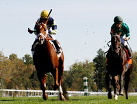 Bridgetown with Javier Castellano up wins the 2012 Woodford for trainer Todd Pletcher and owner Eugene Melnyk, Racing scenics, 2012 Keeneland Fall Meet