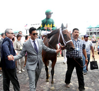 Authenticity with John Velasquez up wins the 2013 La Troienne for trainer Todd Pletcher and owner Padua Stable
