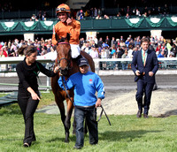 Strathnaver with Joel Rosario up wins the 2013 Bewitch for trainer Graham Motion and owner Andrew Stone not present.