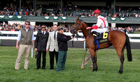 Balance the Books with Julien Leparoux up wins the 2012  Bourbon for trainer Chad Brown and owner Klaravich Stables, 2012 Keeneland Fall Meet