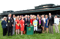 DayattheSpa with Javier Castelano up wins the 2012 Queen Elizabeth II Challenge Cup for trainer Chad Brown and owners, Jerry and Ronald Frankel, Steve Laymon and Pete Bradley, 2012 Keeneland Fall Meet