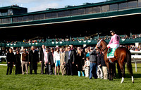 In Lingeriewith John Velasquez up wins the 2012  Juddmonte Spinster for trainer Todd Pletcher and owner Gary Barber and Eclipse Thoroughbred Partners, 2012 Keeneland Fall Meet